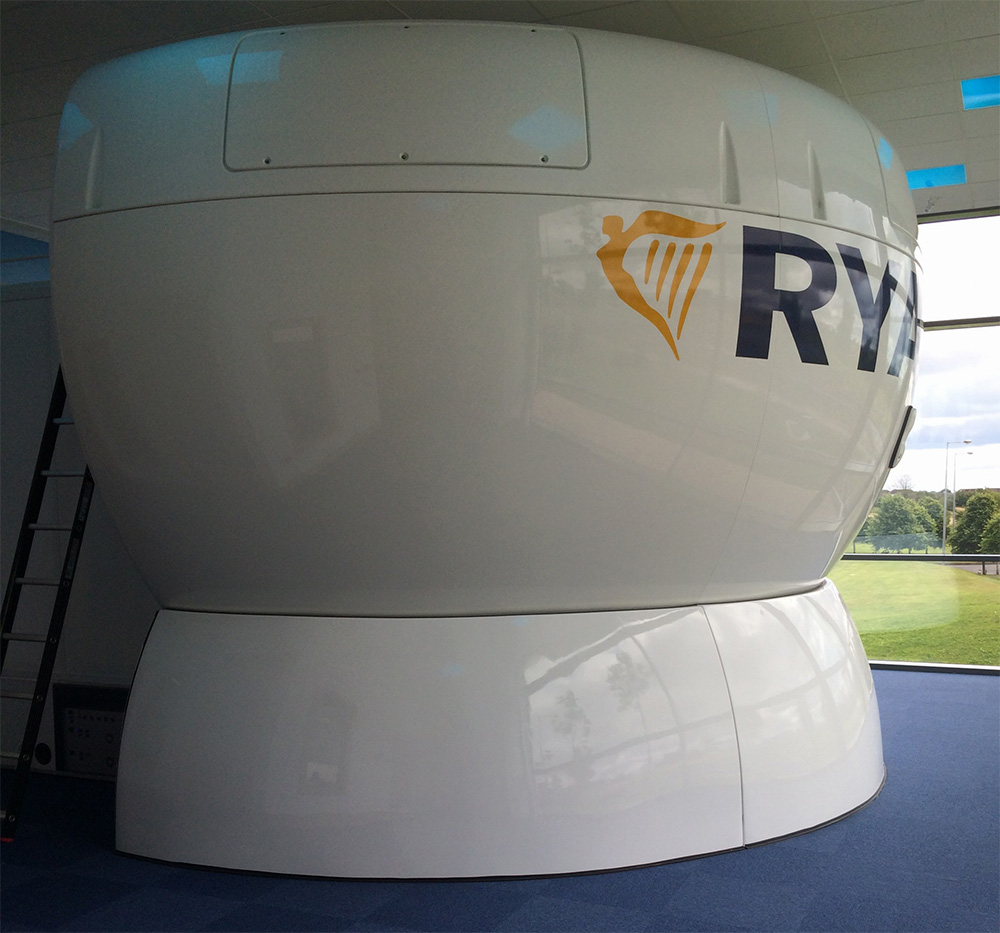 Ryanairs simulator delivered and installed
